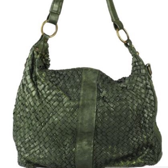 Genuine Woven   Washed Leather Handbag 0097332e59321